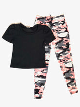 Load image into Gallery viewer, girls soft camo jogger
