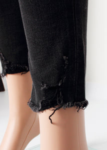 midrise distressed crop skinny jean