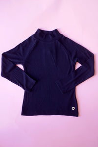 girls rib mock neck top