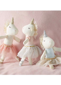 unicorn ballerina rattle