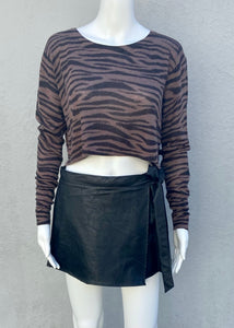 zebra crop sweater