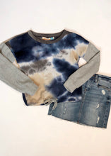 Load image into Gallery viewer, girls tie dye thermal top