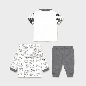 baby 3 piece tracksuit - animals