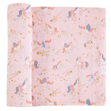 Load image into Gallery viewer, muslin swaddle-unicorn