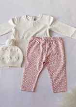 Load image into Gallery viewer, girls 3 piece dot legging, top & vest