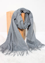 Load image into Gallery viewer, pearl trim scarf