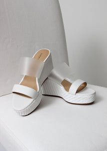 clear 2 strap wedge sandal