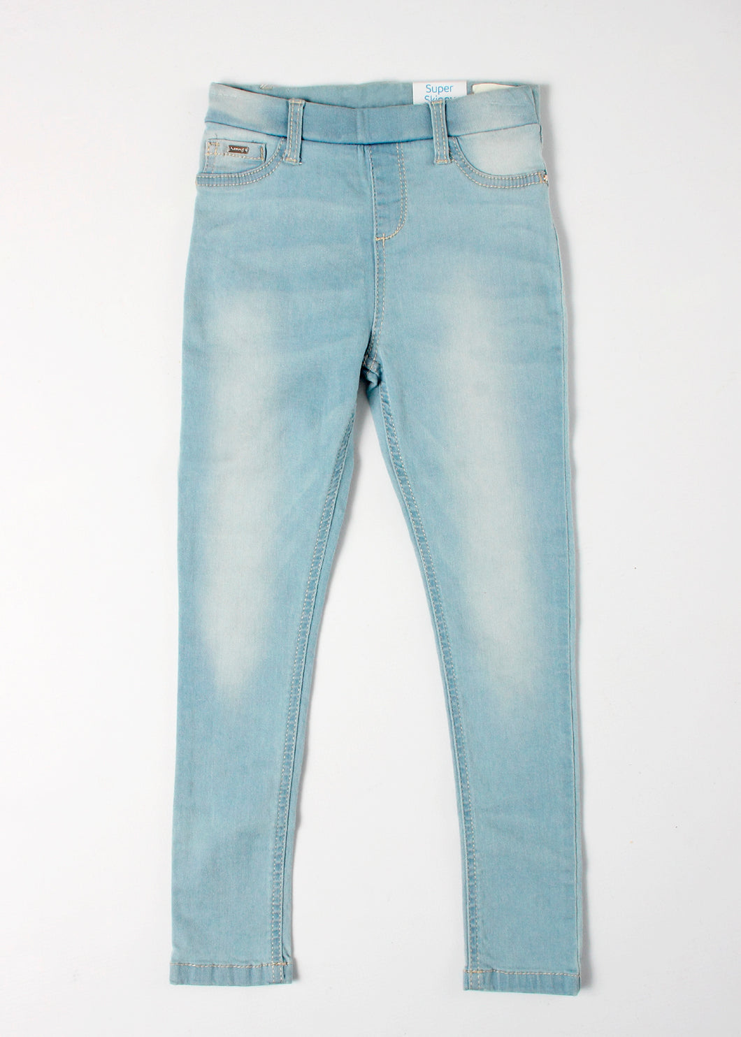 denim pull on jegging - girls