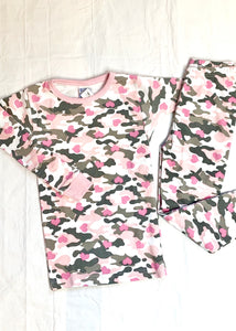 2pc pj set pink camo