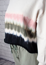 Load image into Gallery viewer, stripe tie dye crop sweatshirt