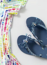 Load image into Gallery viewer, shimmer hearts jelly flip flop-girls