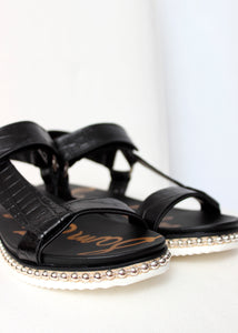croc sandal studded sole
