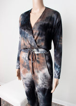 Load image into Gallery viewer, tie dye long sleeve jumpsuit