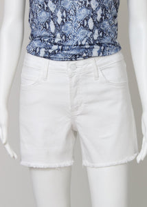 white denim shorts-hi rise fray hem