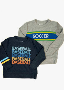 boys cozy baseball pull over top