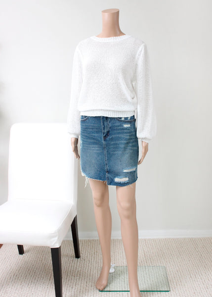 loose knit spring sweater