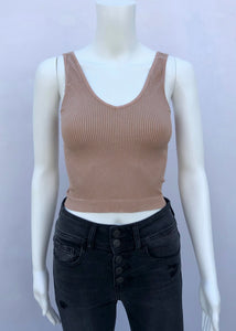 vnk rib crop top-vintage wash