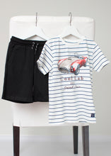 Load image into Gallery viewer, stripe short sleeve car tee-boys