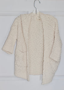 girls textured cardigan