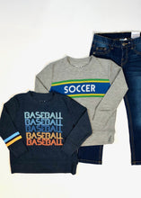 Load image into Gallery viewer, boys cozy baseball pull over top