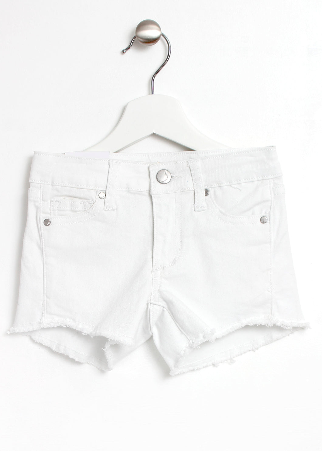 fray hem shorts-girls