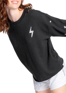 bolt & stars fleece lounge top