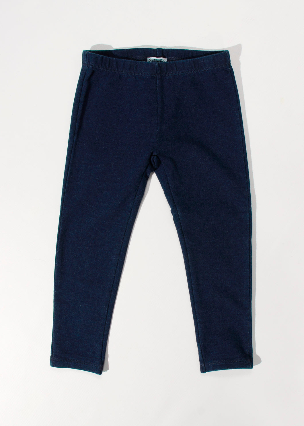 girls leggings indigo wash