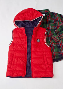 boys quilted reversible vest