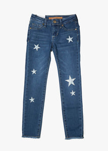 girls star patch jeans