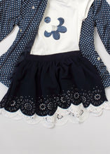 Load image into Gallery viewer, 2 pc daisy tee & skirt set - girls