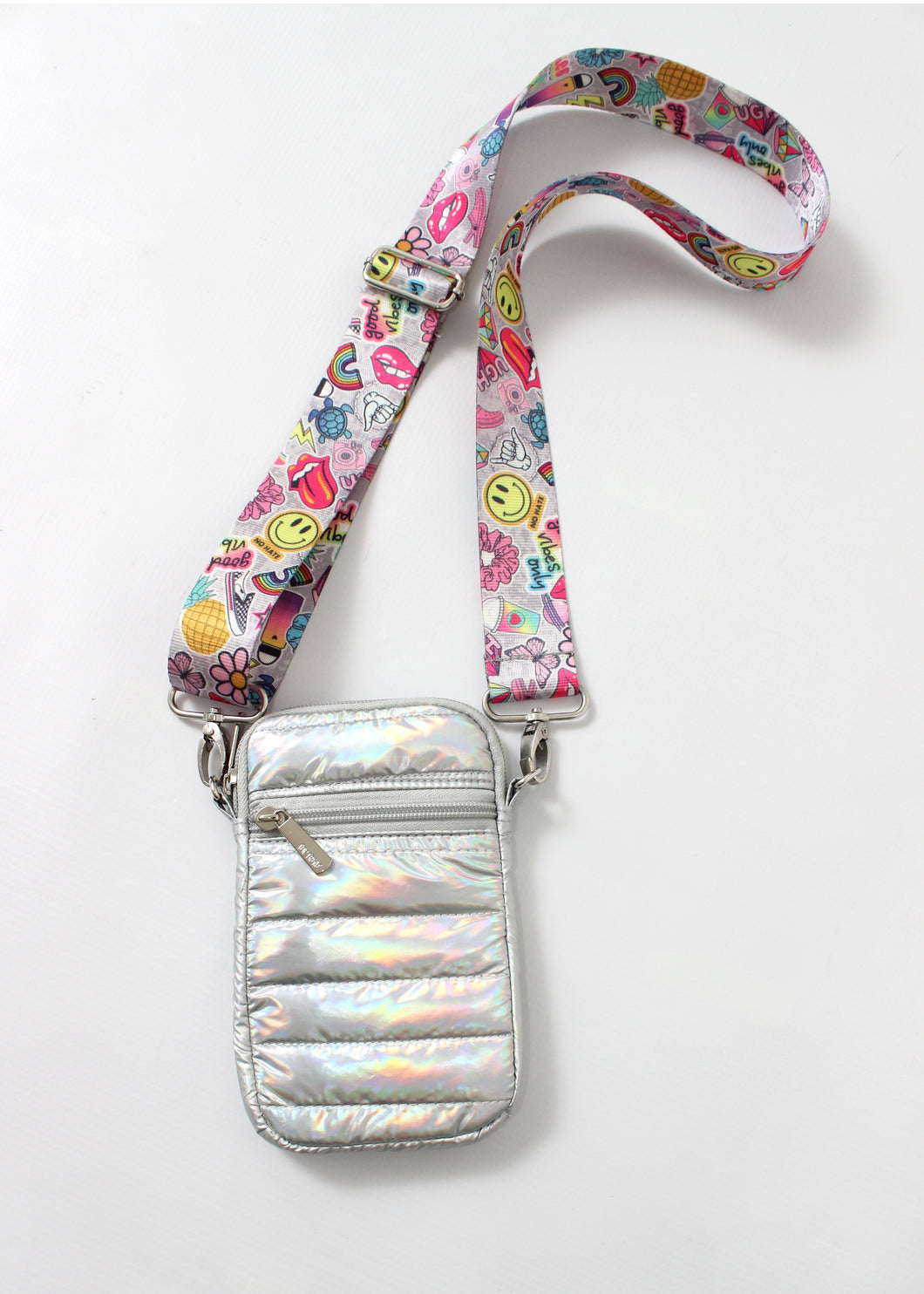 puff cell bag-silver