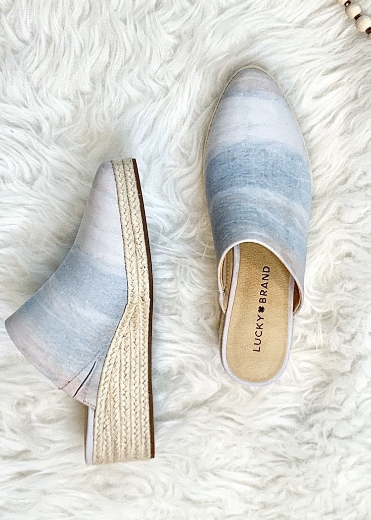 ombre espadrille wedge