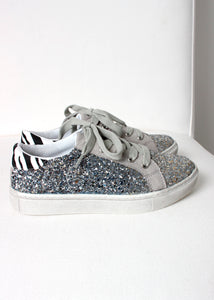 glitter lace up sneakers girls
