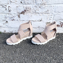 Load image into Gallery viewer, elastic strap wedge sandal