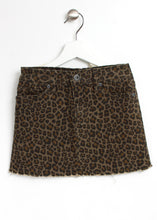 Load image into Gallery viewer, leopard denim skirt-girls