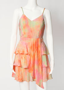pleat tier strap dress-tie dye