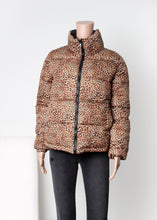 Load image into Gallery viewer, puffer leopard coat