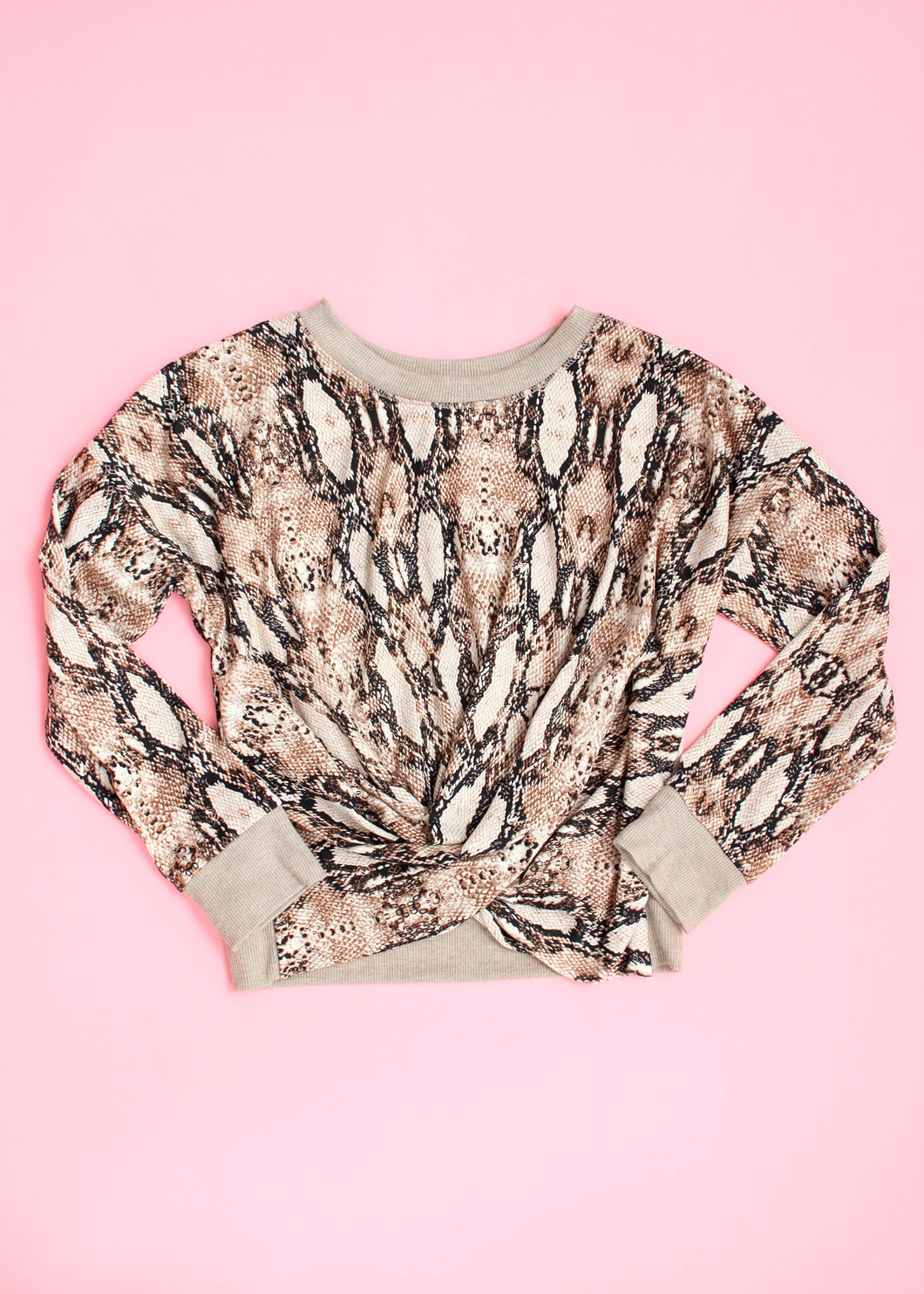 girls snake print top