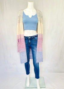 colorblock cardigan