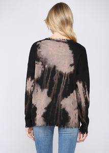 distressed pull over sweater