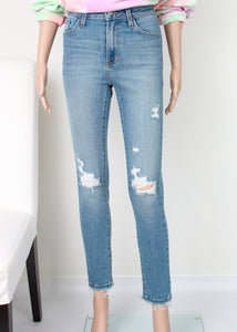 hirise knee distressed skinny