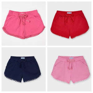jersey shorts with trim - girls