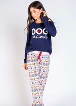 Load image into Gallery viewer, jogger pant- dogs & nordic stripe