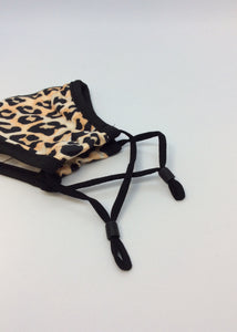 Cloth adjustable mask - leopard