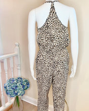 Load image into Gallery viewer, strappy leopard jumpsuit