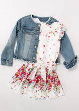 Load image into Gallery viewer, studded denim jacket-girls