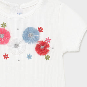 baby rib applique tee