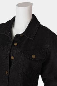 crop vintage denim jacket