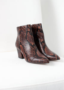 brown snake bootie