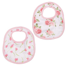 Load image into Gallery viewer, muslin bib set-bella floral